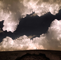 A Poor Man's Memory (George Christakis) Tags: sky cloud man rock clouds dark stars person hope star george rocks solitude alone open place surrealism secret horizon great poor surreal hidden mans memory figure concept wish lovely conceptual extra memoria darky starfall christakis terrastial