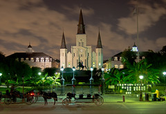 "Jackson Square at Night - New Orleans • <a style=""font-size:0.8em;"" href=""http://www.flickr.com/photos/85864407@N08/8133453420/"" target=""_blank"">View on Flickr</a>"
