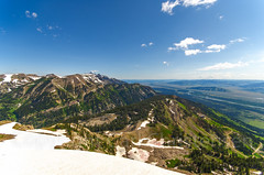 Grand Tetons from atop Rendevous Mountain - Teton Village - Grand Teton National Park (Carl's Photography) Tags: road blue summer sky tree green horizontal pine clouds landscape iso100 nikon outdoor horizon tripod bluesky valley processing f80 grandteton jacksonhole scenics lightroom grandtetonnationalpark sigma1020mm tetonvillage grandtetonmountains tetonmountains beautyinnature sigma1020mmf456exdchsm adobelightroom jacksonholewyoming 1400sec rendevousmountain luminositymask d7000 1400secatf80 nikond7000 adobephotoshopcs5 gettyartistpickspending 2011blackhillsyellowstonebeartoothhighway320ranchtetons