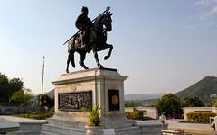 Mewar hero Maharana Pratap atop Chetak