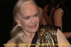 Shirley Eaton (iron_smyth48) Tags: red portrait woman white celebrity english film smile face television female hair carpet star glamour eyes dress event blonde actress earrings premiere celeb goldfinger