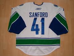 #41 Curtis SANFORD (G) Game Worn Jersey (kirusgamewornjerseys) Tags: canada game hockey nhl worn jersey gameworn gamewornjersey