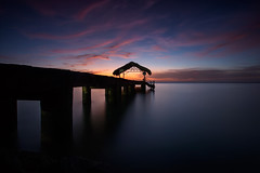 End of day (timcorbin) Tags: longexposure sunset sky colour canon pier caribbean pigeonpoint tobago trinidadandtobago