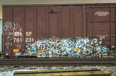 (Rob Swatski) Tags: street railroad streetart art car train bench graffiti nikon paint grafitti pennsylvania tag graf rail trains pa railcar spraypaint boxcar graff aerosol railways railfan freight freighttrain freights rollingstock fr8 bmk optick benching freighttraingraffiti swatski d7000 nikond7000