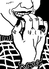 bite nails (/r\/a\/y\/a\/r\/a\/y\/a\/x\) Tags: biting nails bite raya stress blackandwhiteillustration rayax rayarayax nailfingers