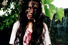 zombie (JoyceFncs) Tags: brazil me nature monster scary blood zombie fear makeup help facepaint zumbi medo thewalkingdead