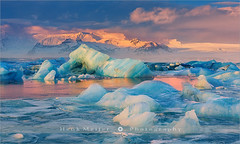 Jokulsarlon - Iceland (~ Floydian ~ ) Tags: park winter cloud sun lake snow ice nature clouds sunrise canon wow landscape photography volcano landscapes iceland view lakes glacier national viewpoint jokulsarlon vatnajokull alpenglow jkulsrln icelandic glacial vatnajkull floydian proframe canoneos1dsmarkiii henkmeijer