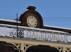Caledonian Railway Brechin (Michelle O'Connell Photography) Tags: winter snow building clock scotland angus derelict britishrail steamrailway caledonian brechin caledonianrailway brechincity privatecompany michelleoconnellphotography brechinpreservationscoiaety