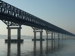 Bridge over Irrawaddy river (mulderlis) Tags: bridge river burma myanmar brug birma irrawaddy rivier