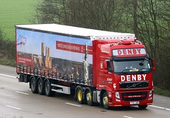 Volvo FH YT61 ABN City of Lincoln (gylesnikki) Tags: red truck artic lincolncathedral denby