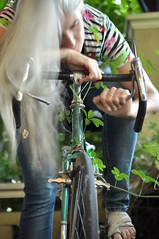 Grass Growing Under My Wheels (eddi_monsoon) Tags: threesixtyfive 365 selfportrait selfie self portrait bicycle