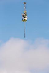 Bungee Jump (RhoeLLL) Tags: jumping bungee scheveningen minimalism minimal minimalist sky beach holland chicken