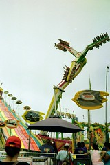 (spitting venom) Tags: 35mm film nikonfm sandiego delmarfair delmar sandiegocountyfair fair attractions fairride countyfair physics