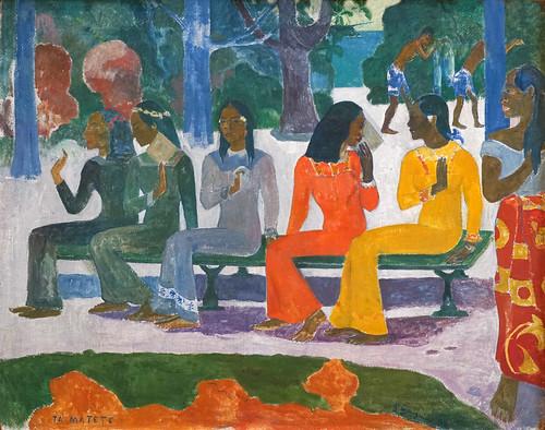 Le marché de P. Gauguin (Kunstmuseum, Bâle)