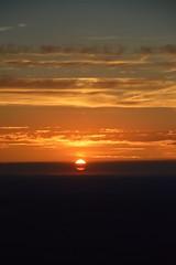 DSC_1732 (justinecharrel) Tags: sunset coucher de soleil auvergne france puydedome volcan montagne nature landscape paysage colors orange red blue sky clouds sun parapente parasailing nikon nikond3200 out