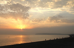 Its a b s (Gay Biddlecombe) Tags: sunset sun sea sky clouds beach people seaford seafordbay sussex