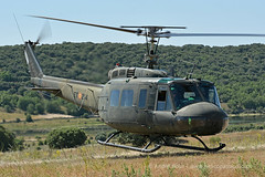 Spanish Army UH1H Huey helicopter, at Colmenar Viejo 2016 (Andr Bour) Tags: spain helicopter uh1 huey famet