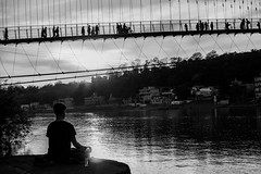down by the great Ganga (Bilihut) Tags: inde indianstreetlife sonya7 blackandwhite rue india people streetlife photo street indian photoderue rishikech life rishikesh monochrome