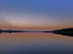 Moon setting over lake HDR 20160819 (Kenneth Cole Schneider) Tags: florida miramar westbrowardwca