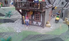 Ciudad medieval (lalex24) Tags: exposicionplaymobil playmobil ciudadmedieval casa clik clak escoba raton cabra paloma carretilla