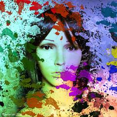 Paint spill (Lemon~art) Tags: mannequin face portrait paint spill splash colour photomontage manipulation