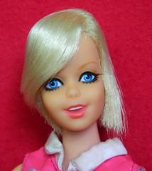 VINTAGE MOD TWIGGY TWIST N TURN BARBIE DOLL w/ CULOTTE WOT? OUTFIT (laika*2008) Tags: vintage mod twiggy twist n turn barbie doll w culotte wot outfit