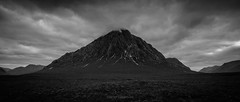 Buachaille Etive Mor by David Gibbeson Photography - social (Dave-G) Tags: blackwhite blackandwhite mountains scotland mono mountain glencoe buachaille etive mor buachailleetivemor highlands scottish britain wilderness outdoors moody landscape clouds ominous