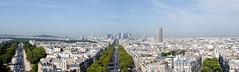 Panorama la dfense (igor.gavrilovic) Tags: arcdetriomphe paris tokina tokinaatxpro pro 280 tokinaatxpro2880mm nikon d300 atx paysage panoramique