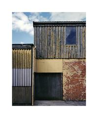 wall textures (ha*voc) Tags: mamiya7ii 65mm 220 mediumformat 6x7 rangefinder film fujinps160 urban urbanabstraction industrialfragments denmark mn