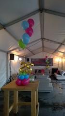 tafeldecoratie heliumballonnen met folie ballon 25