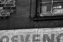 It's Raining Again (Tom Shearsmith Photography) Tags: rain water hdr tone tonemap photography photoshop photo signage sign brickwork brick architecture victorian window bw hull humber humberside