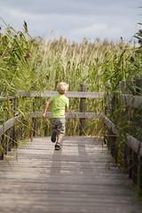 Spring i benen (tusenord) Tags: fotosondag fs160828 tåkern naturreservat östergötland vass reed child sommarnoje summerpleasure barn spring green fun running love speed