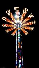 DSC02234 (Moodycamera Photography) Tags: canadiannationalexhibition cne toronto ontario nightphotography rides slowshutterspeed long exposurerlights ferriswheel swing turning twisting spining amusment horse hdr
