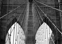 1875 (pjpink) Tags: arches cables webbing blackandwhite bw monochrome brooklyn brooklynbridge bridge architecture nyc newyork newyorkcity ny june 2016 summer pjpink