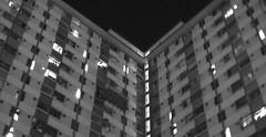 Home (Midoula / Agnes) Tags: vshape housing hongkong house building bw black white home estate ty tsingyi pepole night sleeping