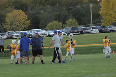 1486 (bubbaonthenet) Tags: 09292016 game stma community 4th grade youth football team 2 5 education tackle 4 blue vs 3 gold