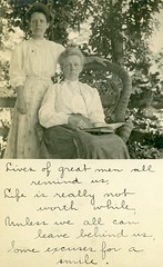 Some Excuses for a Smile (Alan Mays) Tags: ephemera postcards realphotopostcards rppc photos photographs foundphotos portraits women clothes clothing books reading readers chairs wicker poetry poems rhymes handwriting handwritten humor humorous funny amusing ironic antique old vintage