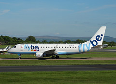 G-FBJH Embraer 175 of Flybe (SteveDHall) Tags: gfbjh embraer e175 embraer175 flybe be bee aircraft airport aviation airfield aerodrome airplane aeroplane airliner airliners ringway 2016 manchester manchesterairport
