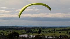 Al on final2 (overflow50) Tags: paragliding paraglider canberra springhill spring australia clouds sky