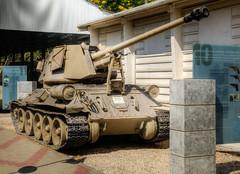 assault gun (3) (maskirovka77) Tags: israeldefenseforces idf museum idfmuseum tanks m48 outdoors hdr armoredcar artillery antiaircraft armoredpersonnelcarrier bridgingequipment