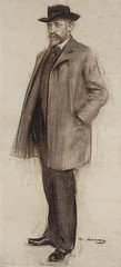 Manuel Fux, Catalonia, Spain, 1900s // Ramon Casas i Carb (1866-1932) (mike catalonian) Tags: catalua spain xxcentury fulllength male portrait drawing charcoal 1900s ramoncasas