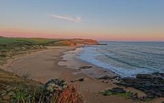4 km back again (wingers5) Tags: beach clouds landscape ocean rocks seascape sunset waves