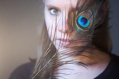 (eye) see (Sarah-Louise Burns) Tags: girl portrait green eyes peacock feather vintage retro fashion beauty eye