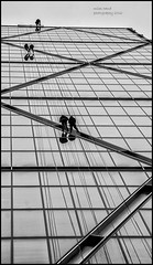 Absailing (handmiles) Tags: mono monochrome blackandwhite bw building architecture people absail london glass openhouse londonopenhouse outdoor outside out zigzag sony sonya77mark2 sonya77m2 tamron tamron18200mm mileshandphotography2016