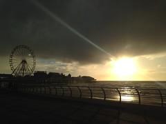 Beautiful sunset over Blackpool (leannebrookes64) Tags: ferriswheel landscape sea pier sunday sunset blackpool