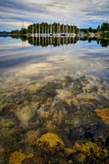 Storevik, Norway (Vest der ute) Tags: g7x norway rogaland ryksund seascape earlymorning reflections clouds sailboats fav25 fav200
