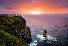 Cliffs Of Moher (Ray Moloney Photography) Tags: ifttt 500px cliffs moher ireland ocean water county clare sky clouds rocks sun summer seascape waves green sunset atlantic coast blue travel beautiful raymoloneyphoto stack obriens tower castle cliff purple birds