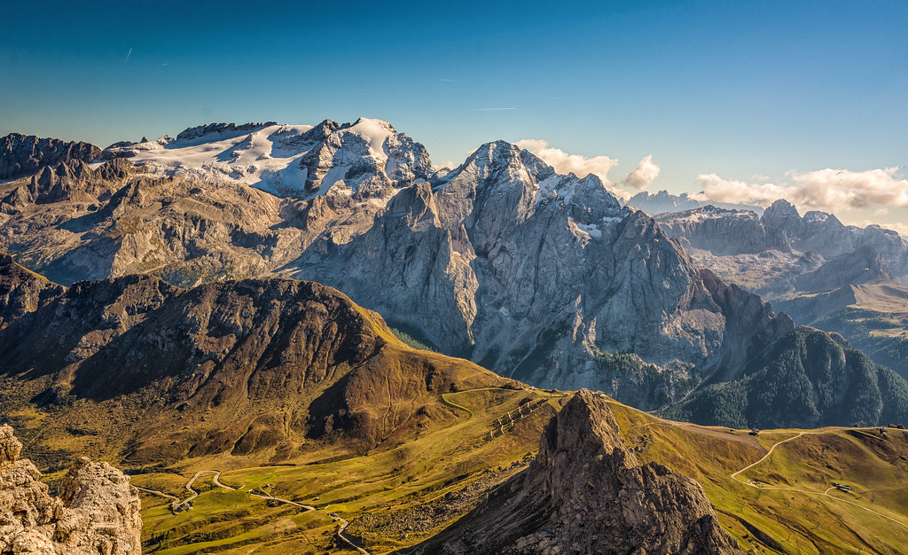 The world 39 s best photos of marmolada and mountain flickr for Best view of dolomites