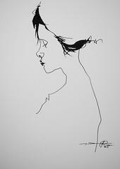 P1015549 (Gasheh) Tags: art painting drawing sketch portrait girl line pen gasheh 2016