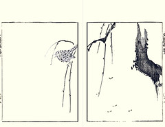 Winter wren (Japanese Flower and Bird Art) Tags: bird winter wren troglodytes troglodytidae bunrei kato nanga nagasaki woodblock picture book japan japanese art readercollection